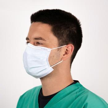 Premium Plus Level 3 Mundschutz, Gesichtsmaske, latexfrei, 50 Stück Farbe blau